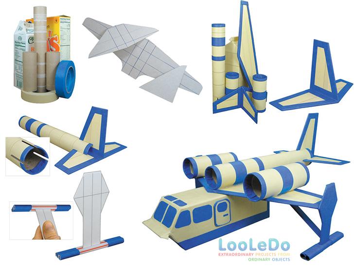 Brinquedos Hidroaviao-reciclando