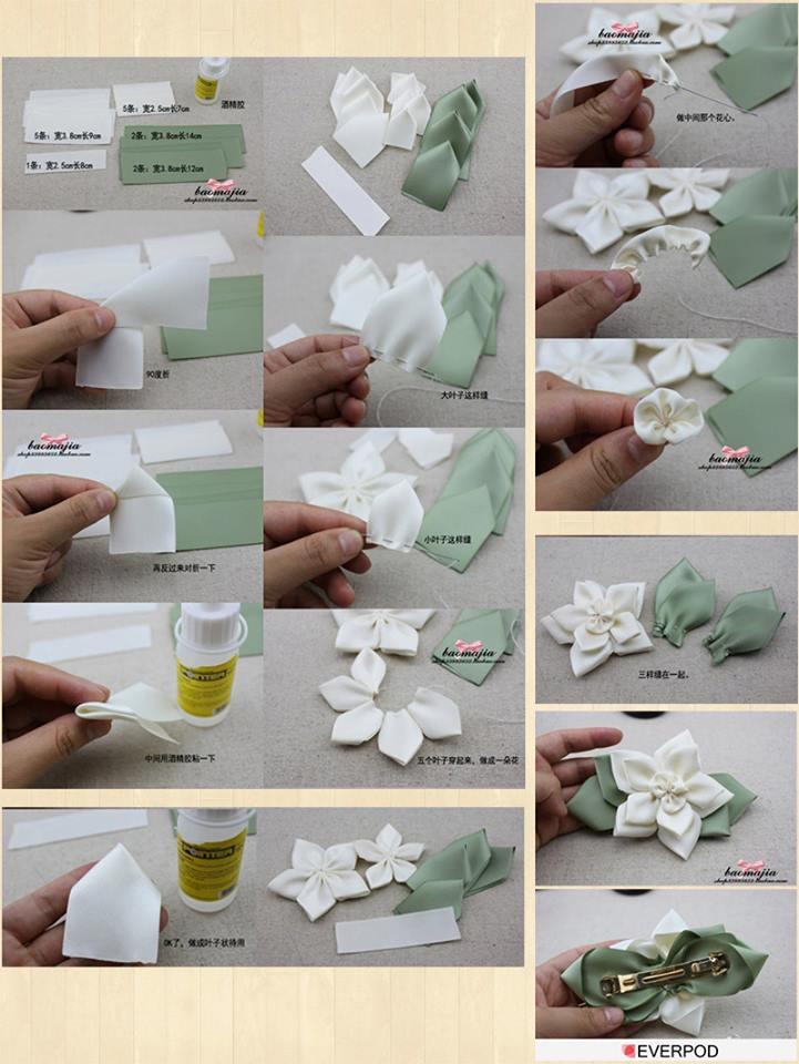 presilha flor fuxico verde
