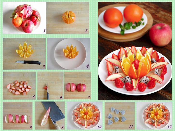 Decorações com frutas