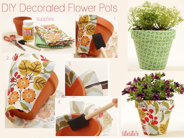 Vaso de flores decorado