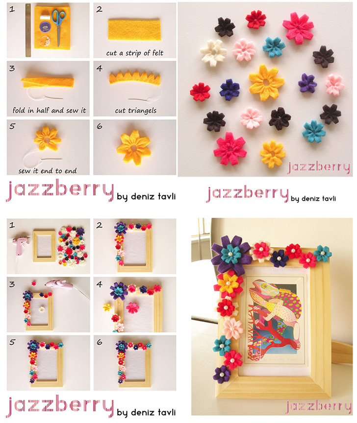 moldura-decorada-flores-feltro2