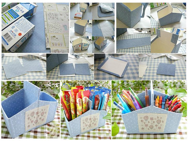 Armario Banheiro Aluminio Astra ~ Faça Voc u00ea Mesmo Porta lápis reutilizando caixa de leite