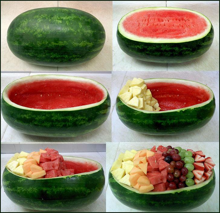 Sala de Frutas na melancia.