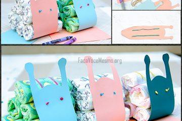 caracaol de fraldas decoração chá de bebê
