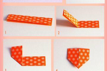 marcador paginas origami coração
