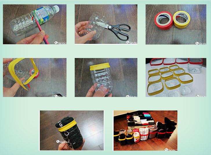 organizador-meias-garrafa-mineral