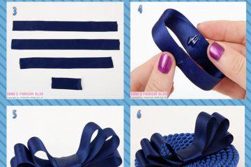 Tiara de cordinha e feltro azul