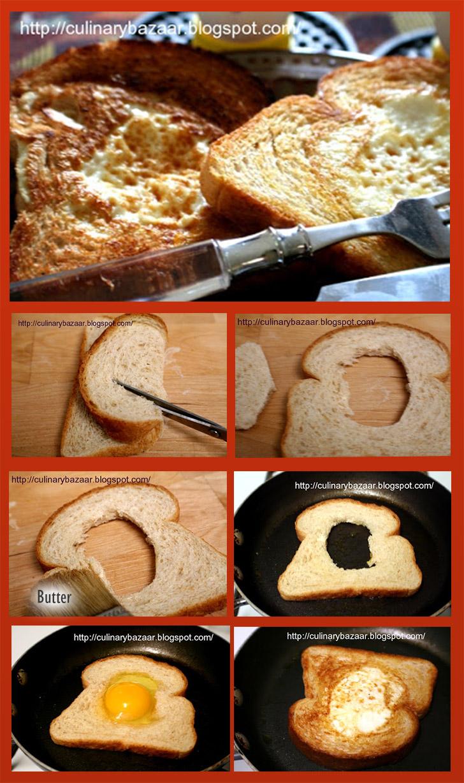 torrada de pão com ovo