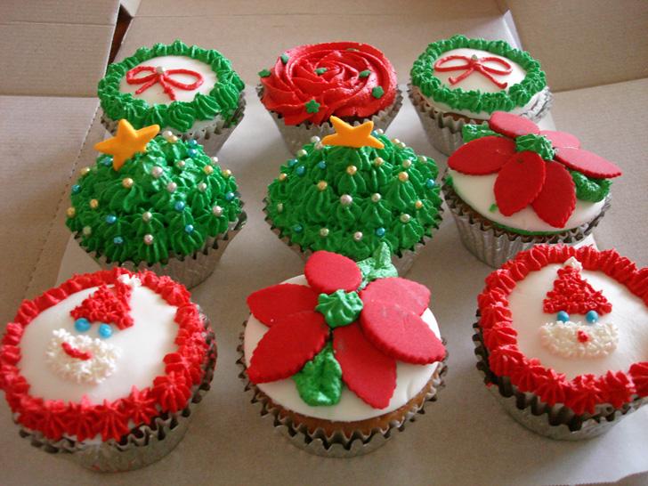 cupcake_natal_noel_flor
