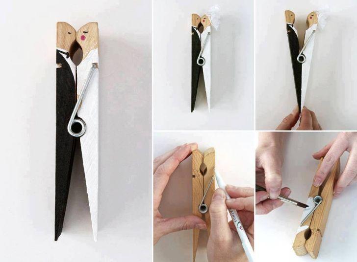 Homemade Wedding Gift Ideas For Bride And Groom : Lembrancinha de casamento usando pregador de roupas - Faca Voc? ...