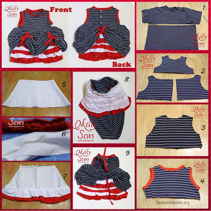 transforme uma camiseta em vestidido infantil femino