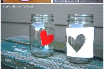 potes de vidro decorado com silhuetas