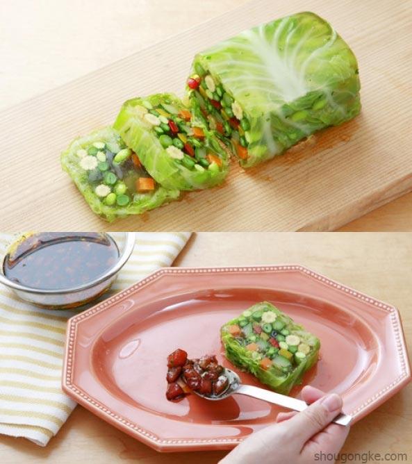 Vegetais embrulhados