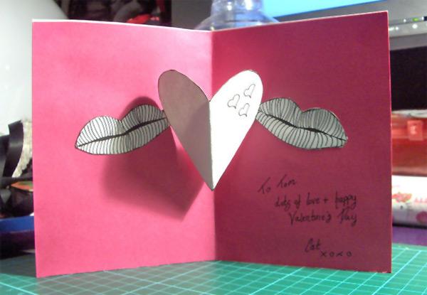 Cartão de Namorados 3D -