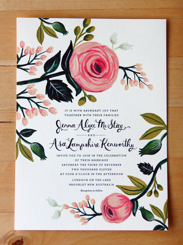 Convite de Casamento - Floral