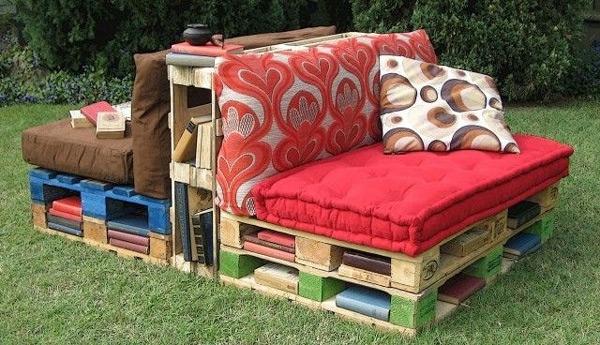 Sofá em área externa -