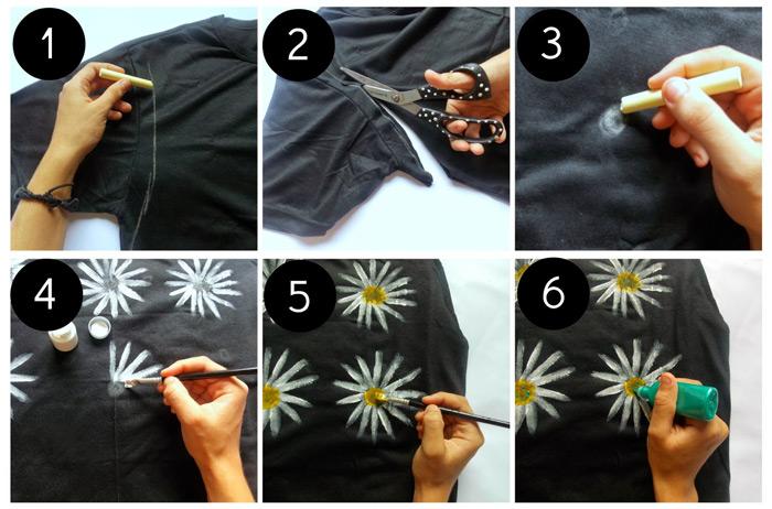 Camiseta com margaridas - Ana Carvalho