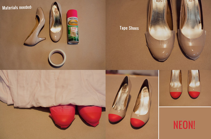 Sapatos com bicos coloridos -