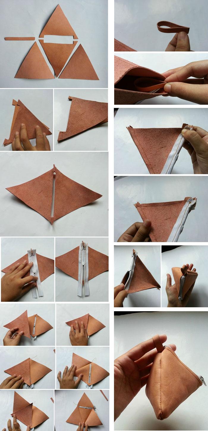 Porta moedas em triangulo
