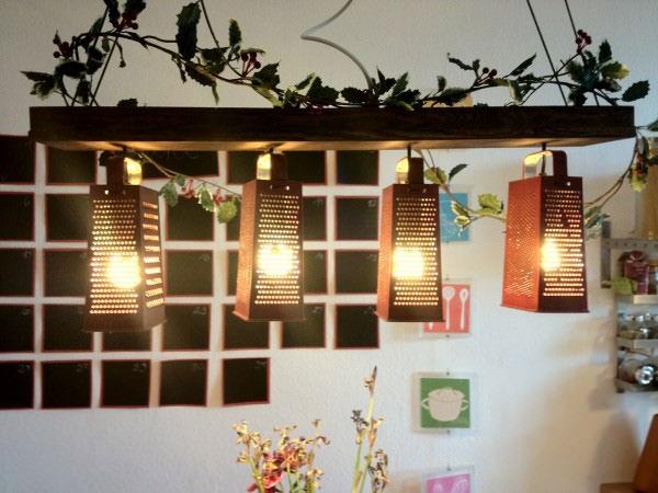 luminaria usando raladores