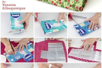 carteira de caixinha de leite