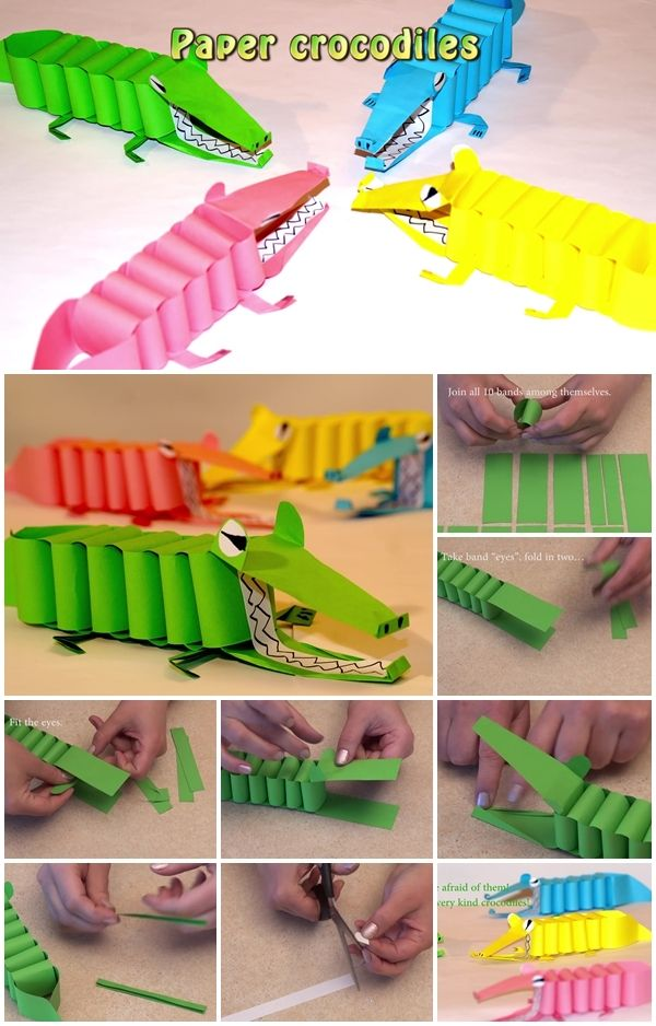 crocodilo de papel