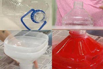 Luminária de galão de água mineral