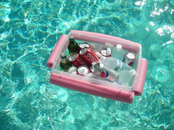 caixa bebidas flutuante