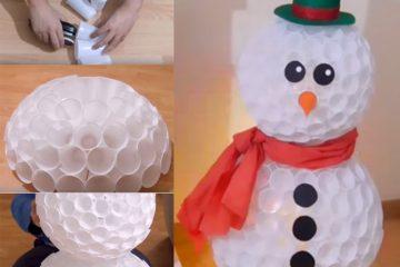 boneco neve copinho descartavel