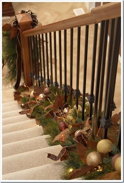 decoracao escada natal