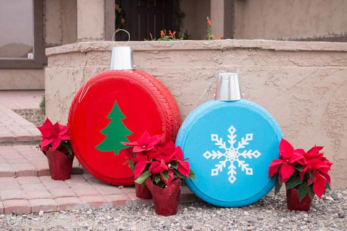 decoracao natal pneus
