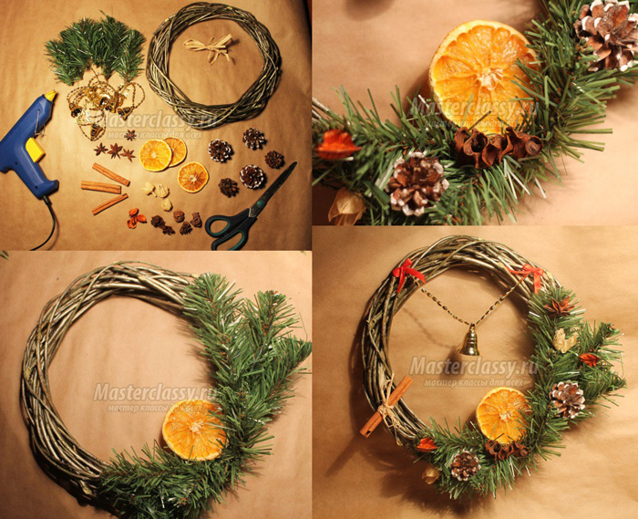 guirlanda de natal com laranja